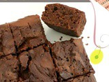 Eggless Double Chocolate Caramel Brownie