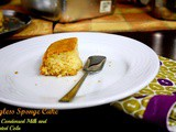 Eggless Vanilla Sponge Cake with Condensed Milk and Cola ~ Egg Substitutes in Baking