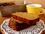 Healthy whole wheat banana bread with no added sugar and eggs