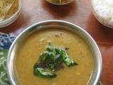 Arachu vita/Roasted and ground spices Sambar with Radish