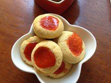 Jam and chocolate chip thumbprint cookies