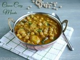 Chickpeas Curry Masala / Channa Curry Masala / Channa Masala with Coconut