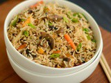 Mushroom Fried Rice Recipe | Quick Mushroom Fried Rice | Easy Chinese Fried Rice Recipe
