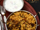 Mutton Biryani Recipe | South Indian Style Mutton Biryani | Mutton Biryani Using Seeraga Samba Rice | Pressure Cooker Mutton Biryani