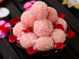 Rose Coconut Ladoo Recipe | Rose Nariyal Ke Ladoo | Rose Coconut Ladoo Using Condensed Milk - Easy Diwali Sweet Recipe In 10 Minutes or Less