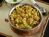 Soya Chunks Brown Rice Biryani / Soya Chunks Biryani Using Brown Rice / Brown Rice Biryani Recipe