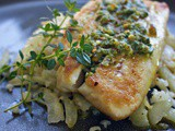 Baked Red Snapper Recipe with Pistachio Pesto