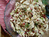 Best Ever Holiday Chicken Salad with Rosemary and Pomegranates