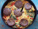 Frittata di Spaghetti with Sausage and Spinach