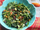 Prepare Ahead Kale Salad: Sweet Potatoes, Maple Vinaigrette Vinaigrette