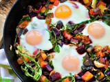 Red Flannel Hash with Oven Fried Eggs
