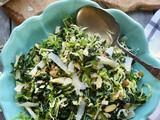 Shaved Brussels Sprout Salad with Apple Cider Vinaigrette