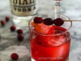 Simple Cocktail Recipe for the Holidays with Dixie Vodka, Cranberry, Grand Marnier