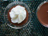 Sugar Free Chocolate Pudding with Stabilized Whipped Cream, Keto Friendly