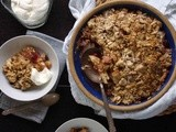 Cranberry-Pear Crisp with Almonds & Ginger