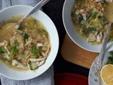 Lemony Chicken & Orzo Soup with Dill