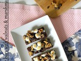 Chocolate Bars with Walnut & Marshmallow Topping