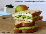 Grilled Brie, Pear and Jalapeno Jam Sandwich