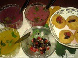 Black Grapes and Fruits Pani Puri Recipe in Marathi