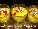 Chilled Mango Custard Recipe in Marathi