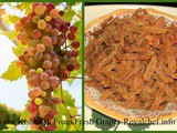How To Make Raisins Kishmish From Fresh Grapes In Marathi