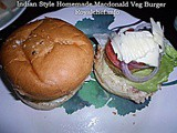 Indian Style Homemade Macdonald Veg Burger