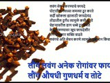 Lavang Aushadhi Gundharm Health Benefits And Side effects Of Cloves In Marathi