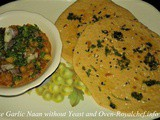 Make Garlic Naan without Yeast and Oven Recipe in Marathi