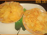 Quick Potato Wafers and Chips Recipe in Marathi