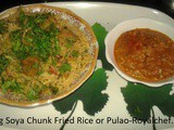 Veg Soya Chunk Fried Rice | Soya Pulao | Soya Rice Recipe In Marathi