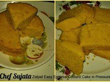 Zatpat Easy Eggless Custard Cake in Pressure Cooker Recipe In Marathi