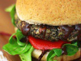 Bbq Portobello Mushroom and Black Bean Burgers