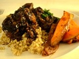 Braised Oxtail with Red Wine and Shallots