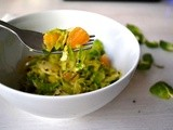 Sautéed Shredded Brussels Sprouts with Nigella Seeds and Orange