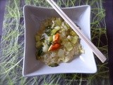Pak choy with soy noodles Vegan