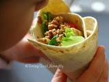 Walnuts and salad Tortillas (wrap) #vegan