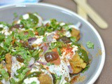 Besan Dahi Bhalla ~ Gramflour Dumplings in Yogurt Sauce