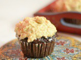 Chocolate Pumpkin Cupcakes with Peanut Butter Frosting