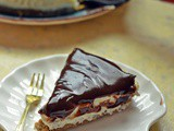 Eggless Baked Cheesecake with Chocolate Caramel Ganache