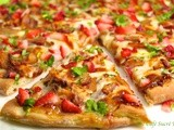 Love at First Bite - Balsamic Strawberry Pizza w/ Roasted Chicken, Sweet Onion and Applewood Smoked Bacon