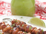 Peruvian Grilled Chicken Skewers