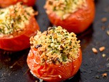 Herb and Parmesan stuffed tomatoes