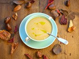 Parsnip and chestnut soup with sage oil