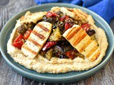 Zhug-roasted vegetables with halloumi