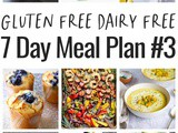 Gluten Free Dairy Free 1 Week Meal Plan #3