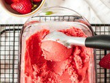 Quick Dairy Free Strawberry Ice Cream (Paleo)
