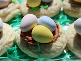 Bird's Nest Thumbprint Cookies / #SpringSweetsWeek