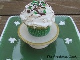 Butter Mint Green Swirl Cupcakes w/ Bailey's Irish Cream Whipped Cream Frosting and Chocolate Drizzle