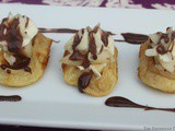 Cheese and Pear Waffle Appetizer