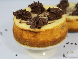 Chocolate Marbled Vanilla Cheesecake